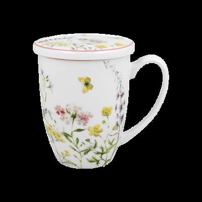 Kubek porcelanowy z zaparzaczem DUO Alice 420 ml