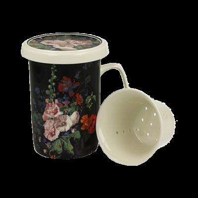 Kubek porcelanowy z zaparzaczem DUO Malwa 320 ml
