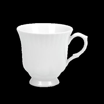 Filiżanka porcelanowa CHODZIEŻ Iwona biała 400 ml