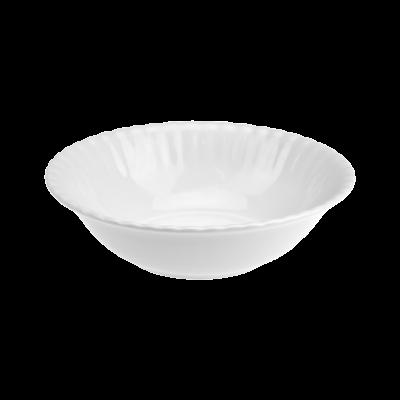 Salaterka porcelanowa okrągła CHODZIEŻ Iwona biała 13 cm