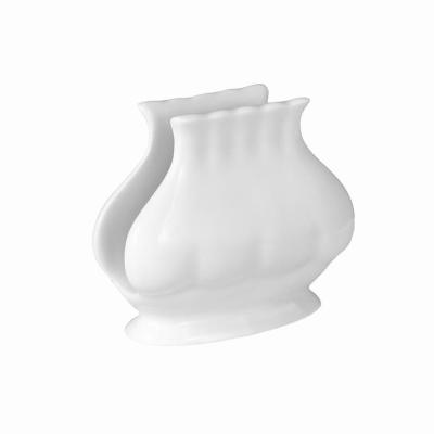 Serwetnik porcelanowy CHODZIEŻ Iwona biała 7,5 cm
