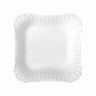 Salaterka porcelanowa kwadratowa CHODZIEŻ Iwona biała 21 cm