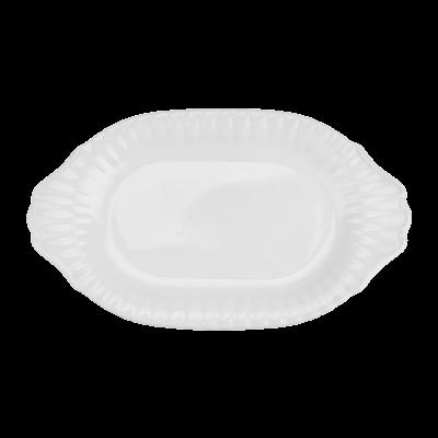 Półmisek owalny CHODZIEŻ Iwona biała 33 cm