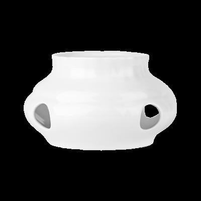 Podgrzewacz porcelanowy CHODZIEŻ Iwona biała 16 cm