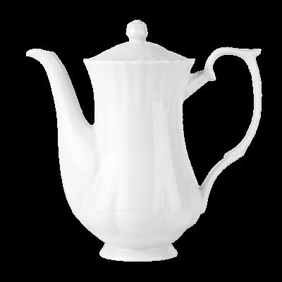 Imbryk porcelanowy CHODZIEŻ Iwona biała 1,1 l