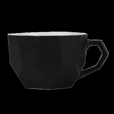 Kubek ceramiczny Sally Geo 410 ml czarny