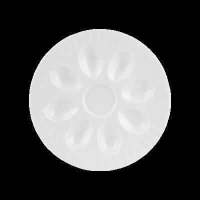 Talerz na jajka CHODZIEŻ Iwona biała 21 cm