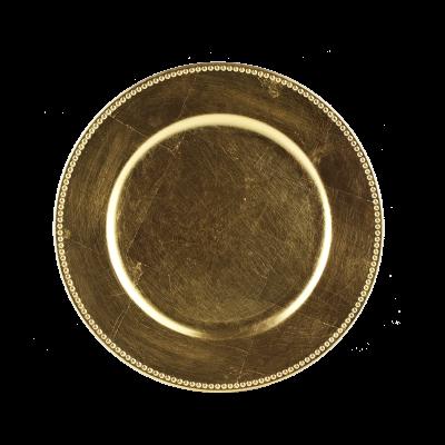 Podstawka złota zdobiona 33cm