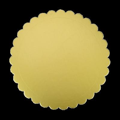 Taca pod tort 30 cm złota