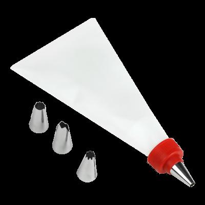 Rękaw cukierniczy z 4 końcówkami 33 cm