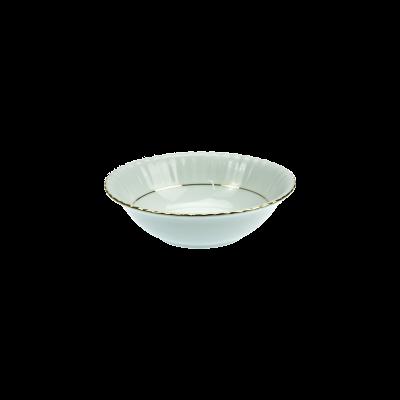 Salaterka porcelanowa okrągła CHODZIEŻ Iwona złoty pasek 16 cm