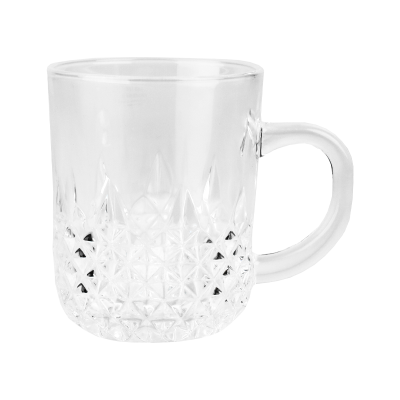 Kubek szklany w romby 240 ml