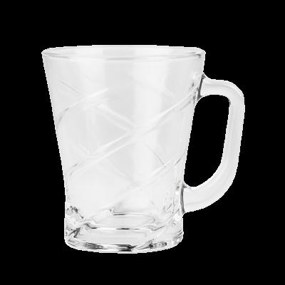 Kubek szklany w paski 210 ml