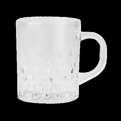 Kubek szklany w romby 230 ml