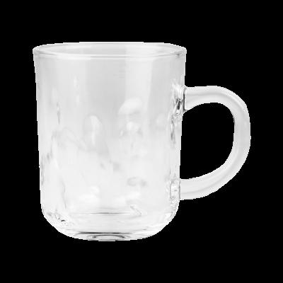 Kubek szklany w kropki 240 ml