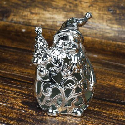 Mikołaj ceramiczny z led 19,5 cm