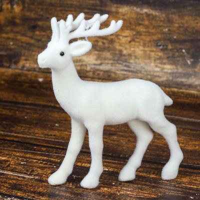 Figurka jeleń 24 cm biały