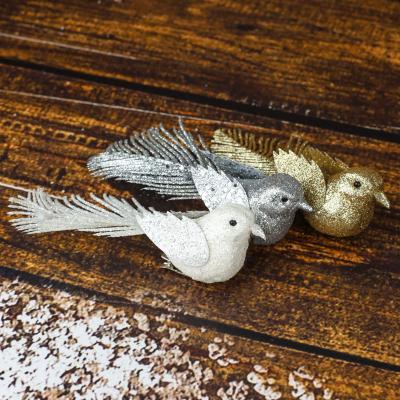 Komplet ptaszków na klipsie brokatowe 3 szt