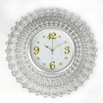Zegar ścienny 49 cm srebrny