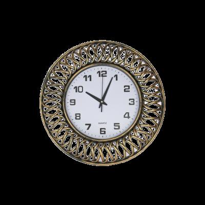 Zegar ścienny 47 cm czarno-złoty