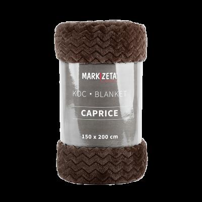 Koc Caprice 150x200 cm brązowy