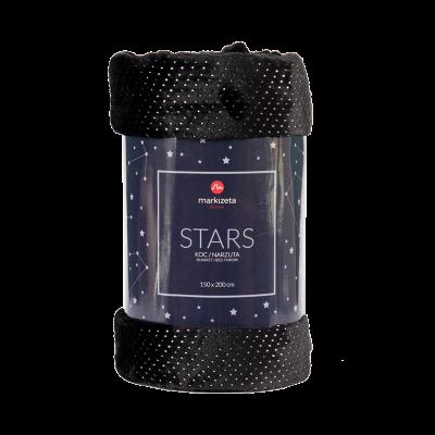 Koc Stars 150x200 cm czarny