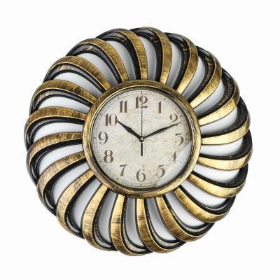 Zegar ścienny 51 cm czarno-złoty