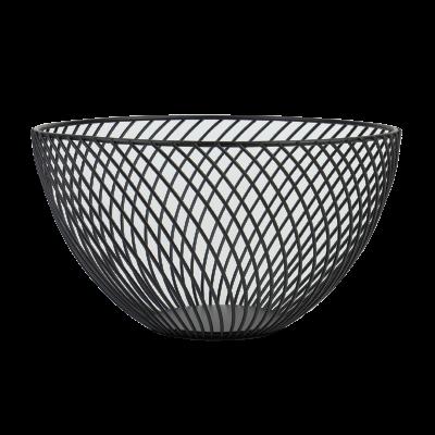 Koszyk na owoce czarny 25,5x14,5 cm