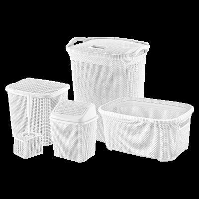 Zestaw łazienkowy biały 5-elementowy