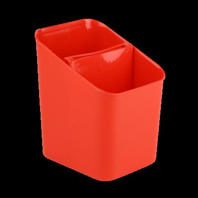 Ociekacz na sztućce czerwony 11,5x13x16 cm