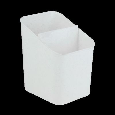 Ociekacz na sztućce biały marmurek 11,5x13x16 cm