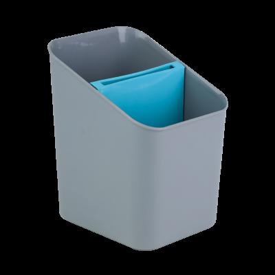 Ociekacz na sztućce niebiesko-szary 11,5x13x16 cm