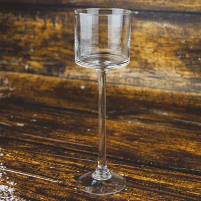 Świecznik szklany kielich 9x30 cm