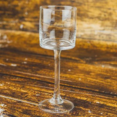 Świecznik szklany kielich 7x20 cm