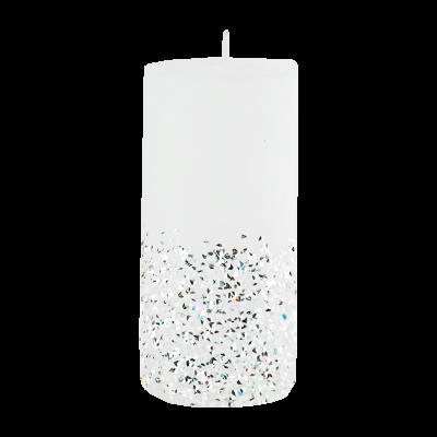 Świeca w kształcie walca Diament 6,5x14 cm