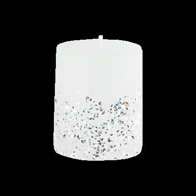 Świeca w kształcie walca Diament 6,5x8 cm