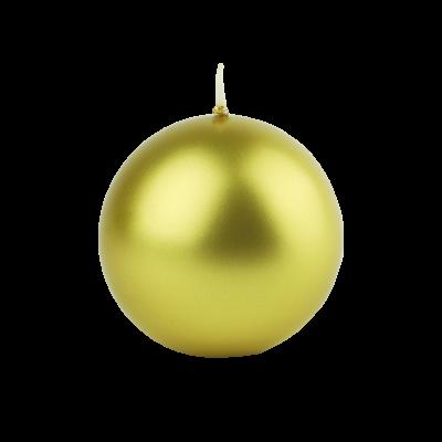 Świeca w kształcie kuli złota 10 cm