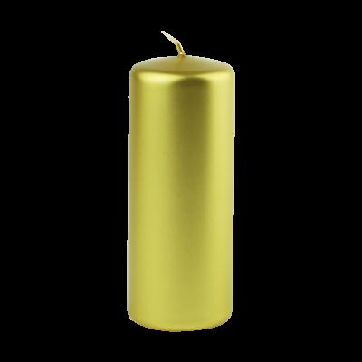 Świeca w kształcie walca złota 6x15 cm