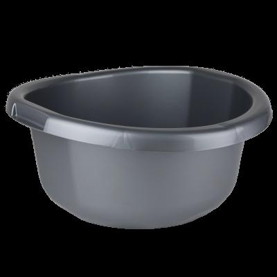 Miska plastikowa srebrna 15 l