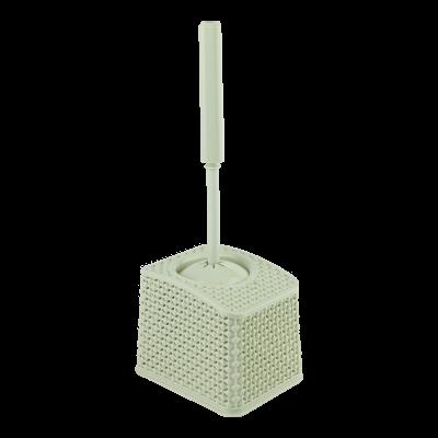 Szczotka do wc z pojemnikiem kremowa 37 cm