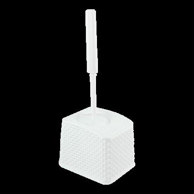 Szczotka do wc z pojemnikiem biała 37 cm