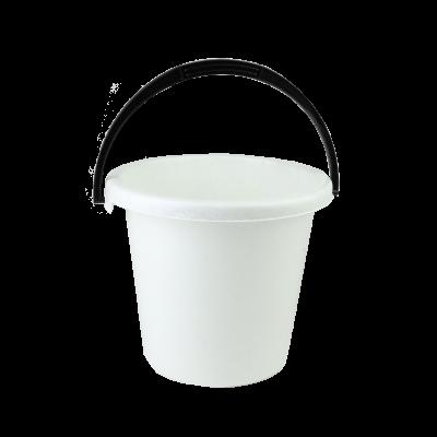 Wiadro plastikowe biały marmurek 6 l