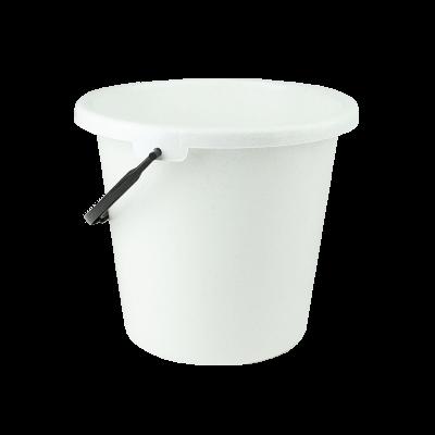 Wiadro plastikowe biały marmurek 9 l