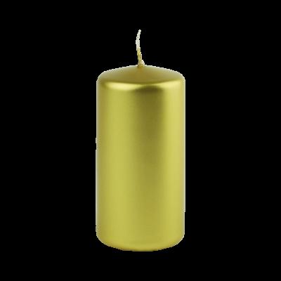 Świeca w kształcie walca złota 6x12 cm