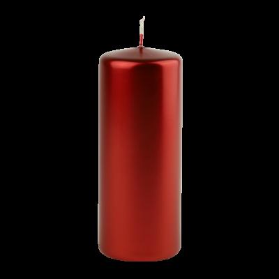 Świeca w kształcie walca czarwona 6x15 cm