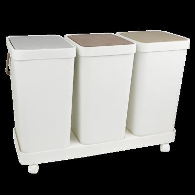 Zestaw 3 koszy do segregacji śmieci 60 l
