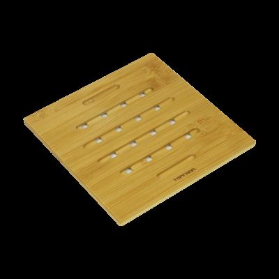 Bambusowa podkładka pod garnek kwadratowa TOPFANN 18x18 cm