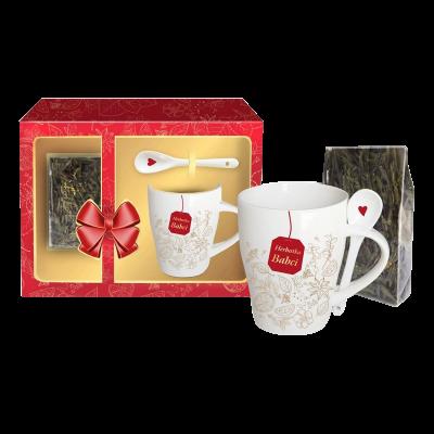 """Kubek """"Herbatka Babci"""" z łyżeczką i herbatą 300 ml"""