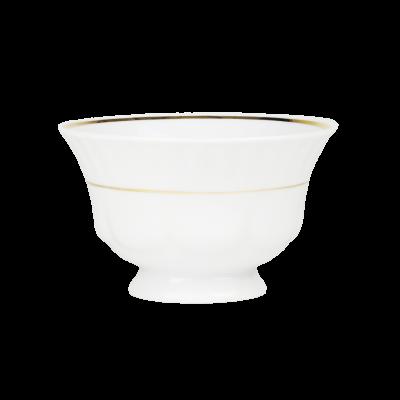 Flaczarka porcelanowa CHODZIEŻ Iwona złoty pasek 400 ml