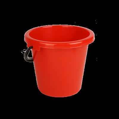 Wiadro plastikowe czerwone 6 l